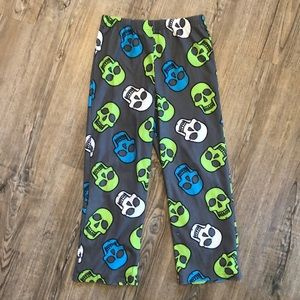 Up-Late Little Boys Skull//Camo Lounge Pants 2 Pair